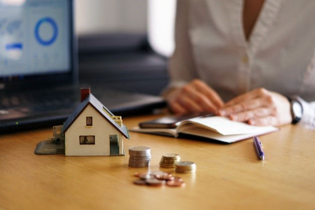 real estate mortgage calculation and loan concept